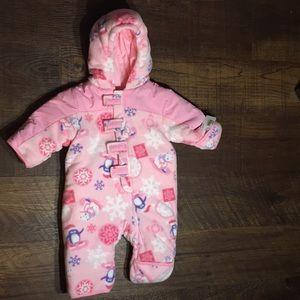 Infant Snowsuit NWT Fleece Purple & Pink 0-6 month